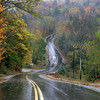 Rainy Road in New Hampshire