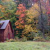 Fall colors and barn in New Hampshire