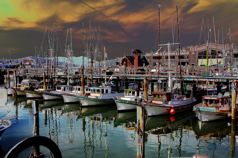 Boats in Monterey Bay