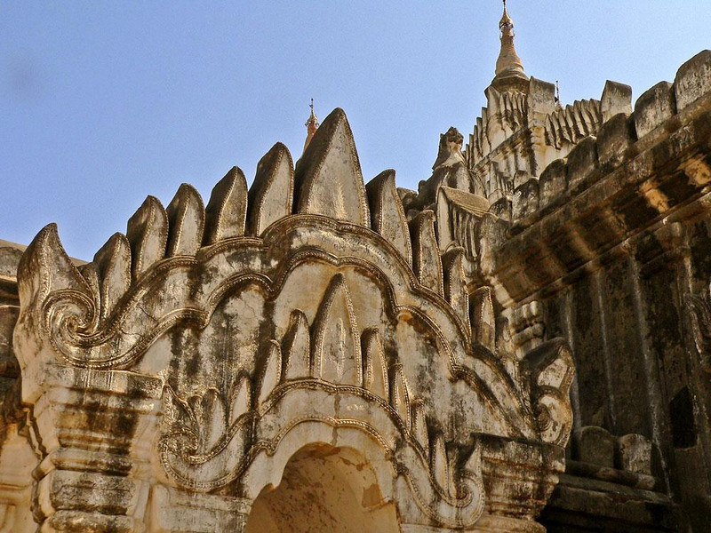 Ananda Gate in Old Bagan - The Ananda Temple is considered to be the most important surviving example of ancient Mon architecture. The Mon people, who still exist, were once the dominant culture in this part of the world.