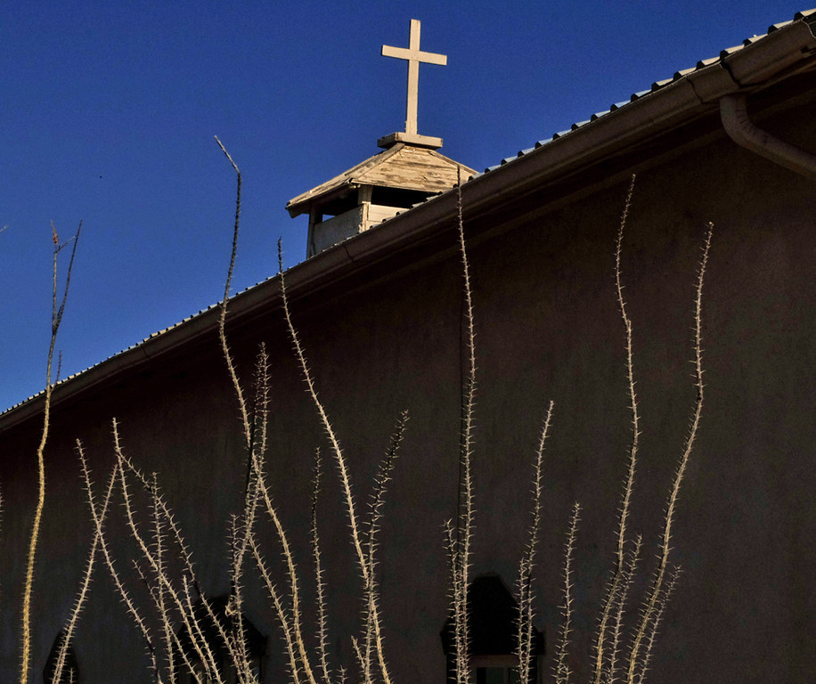 51  Church to gallery, Rodeo, New Mexico