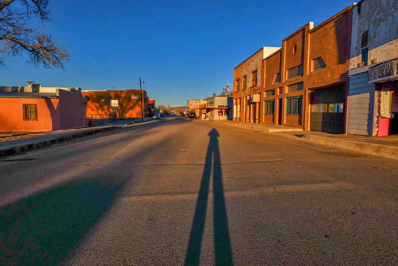 26  Shadow at sunset, Carrizozo, New Mexico