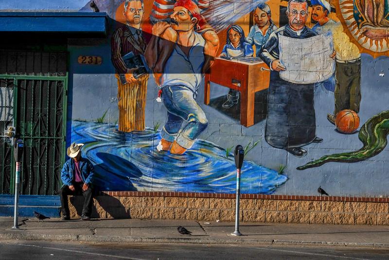 41  Story telling mural, El Segundo Barrio, El Paso, Texas