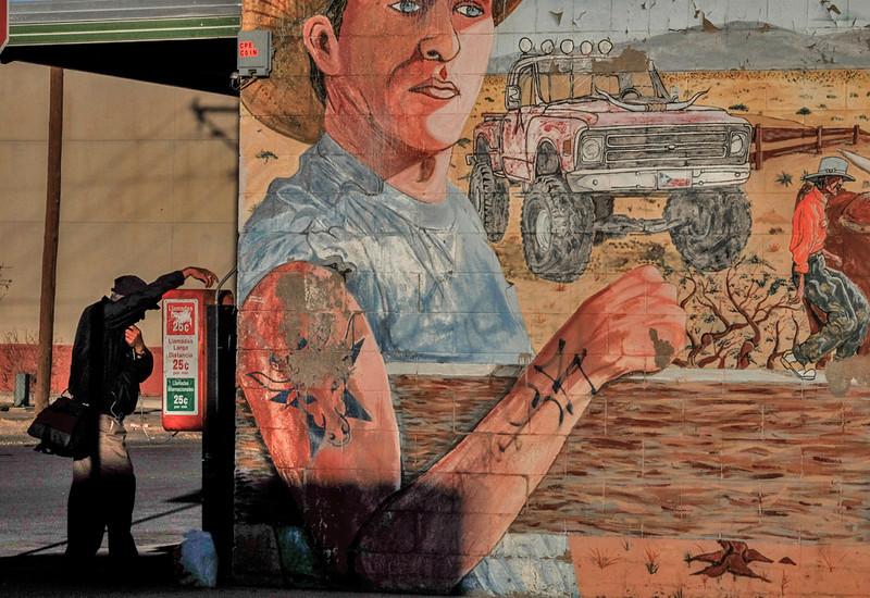 43  Phone call, El Segundo Barrio, El Paso, Texas