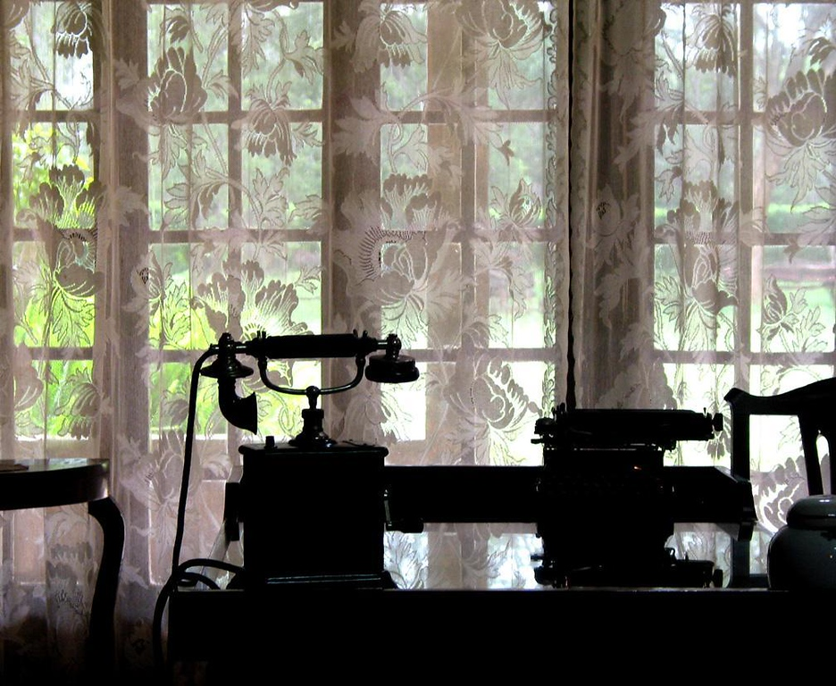 An author's tools - One can still find Karen Blixen's telephone and typewriter in the living room of Karen Estates, outside Nairobi.