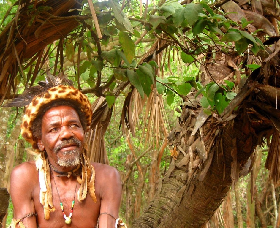 "Zulu healer, DumaZulu, South Africa - While in Zulu country, we visited the village of DumaZulu, which means ""Thundering Zulu"". One of its elders was this healer, who patiently sat for a portrait."