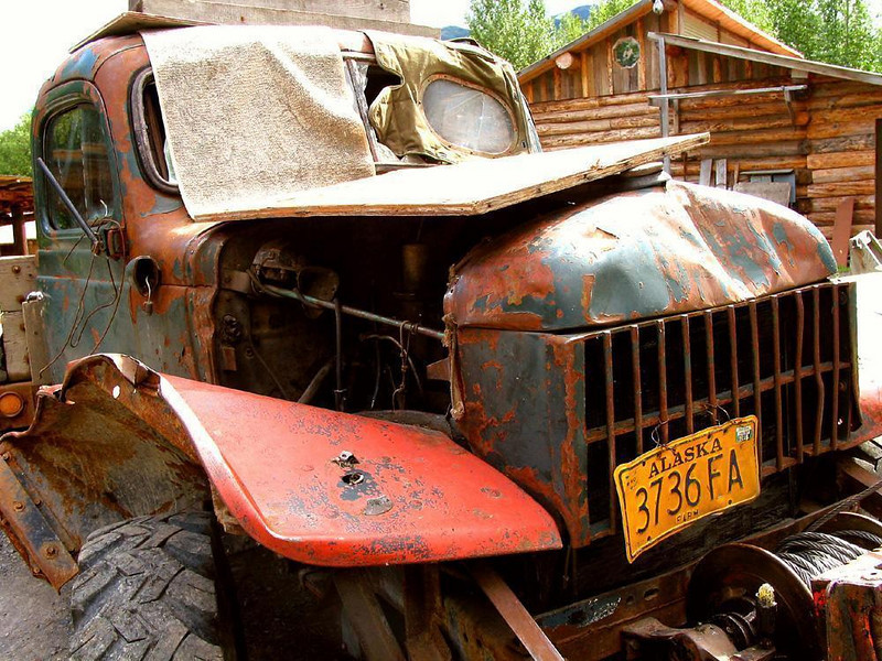 Over 50, and still running - Looks aren't everything. This battered 1947 truck still works in Hope, Alaska.