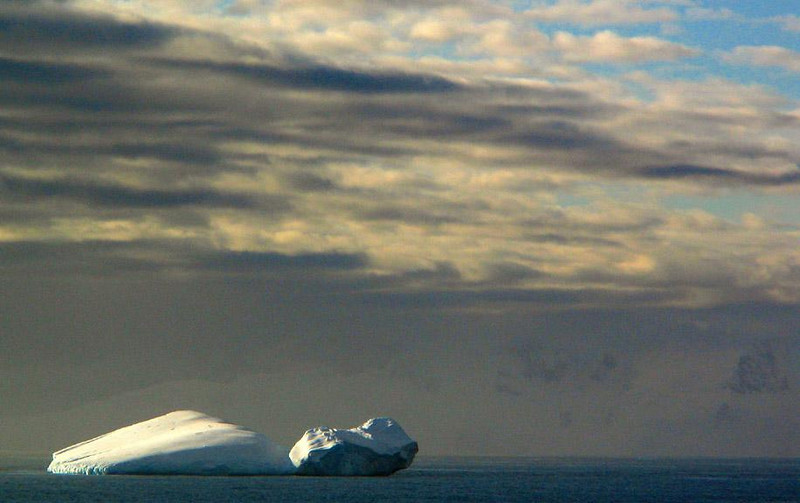 Relaxed Iceberg - Each huge iceberg that drifted past us had its own personality -- this one resembled a slumbering giant.