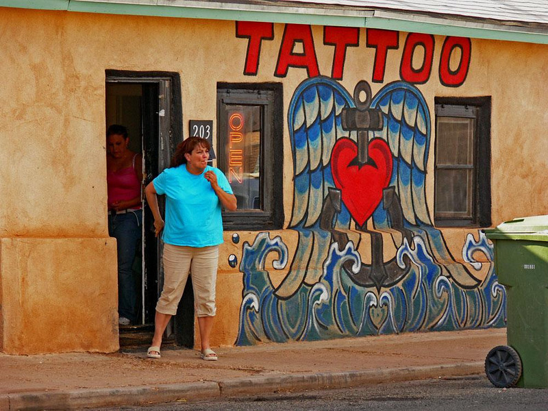 Tattoo Parlor, Winslow - I was struck by the way this building itself has been tattooed.