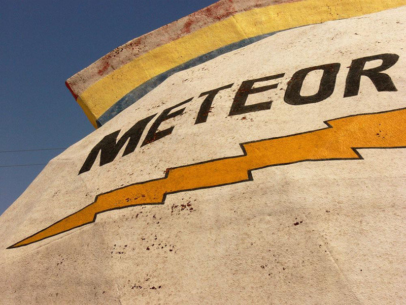 The Dome, Meteor City Trading Post - The trading post's distinctive dome, added in 1979, can be seen for miles along Interstate 40.