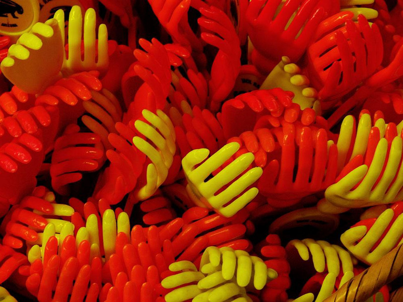 Backscratchers, The Jackrabbitt - A plastic backscratcher is grim enough. To find an entire bucket grasping at me bordered on the surreal. Hence this photograph.