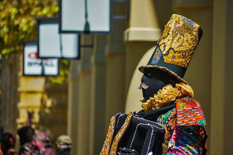 Street performer, Santa Cruz, California