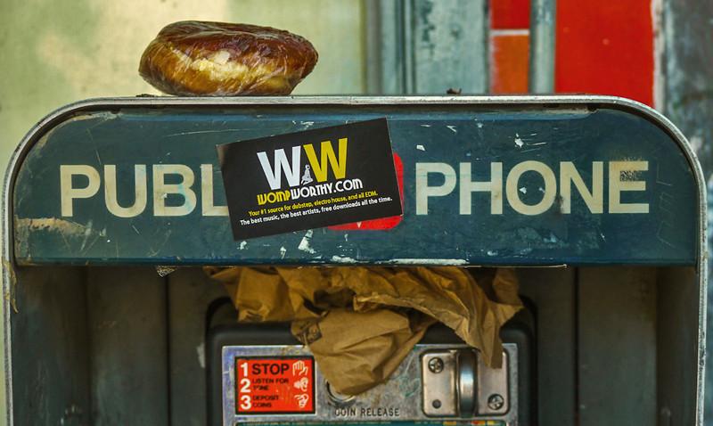 Pay phone, Hollywood Boulevard, Hollywood, California