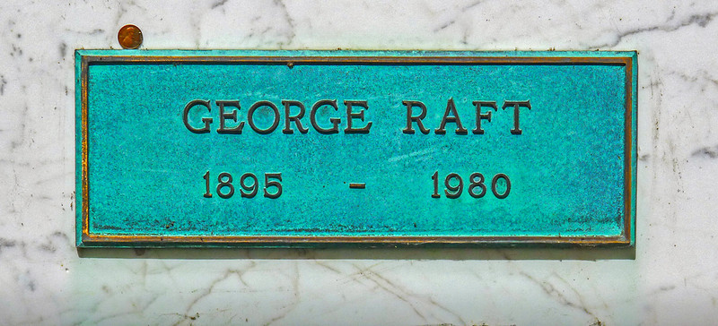 Tomb of actor George Raft, Forest Lawn Memorial Park, Hollywood Hills, California