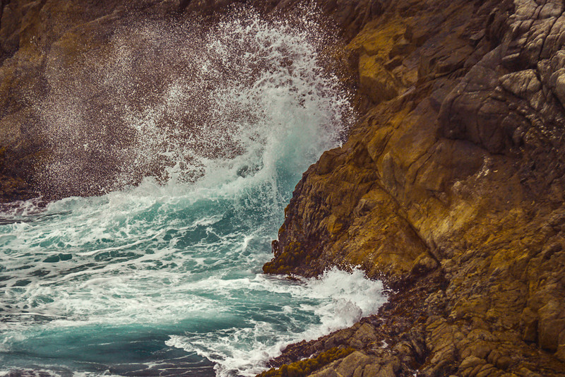 Sea surge, Point Lobos, California