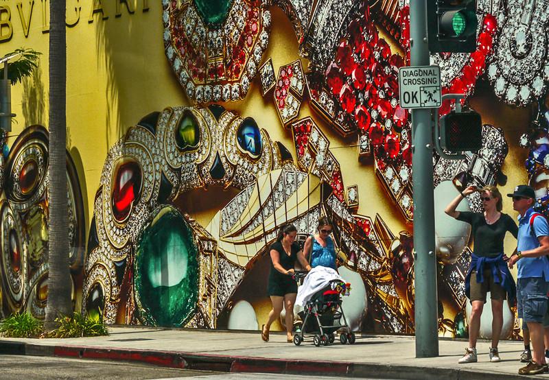 Street scene, Rodeo Drive, Beverly Hills, California