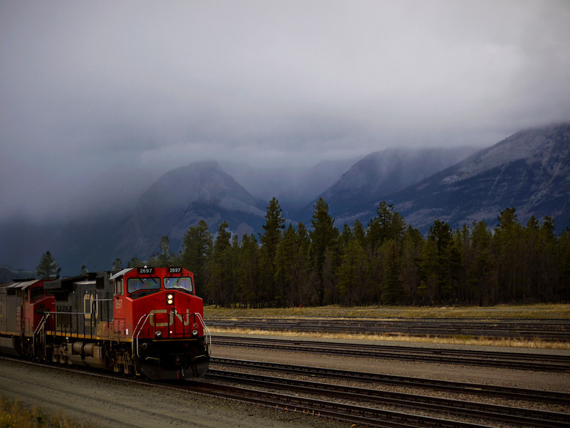 Freight train, Jasper National Park