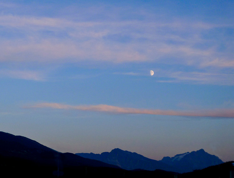 Moonrise, Jasper National Park
