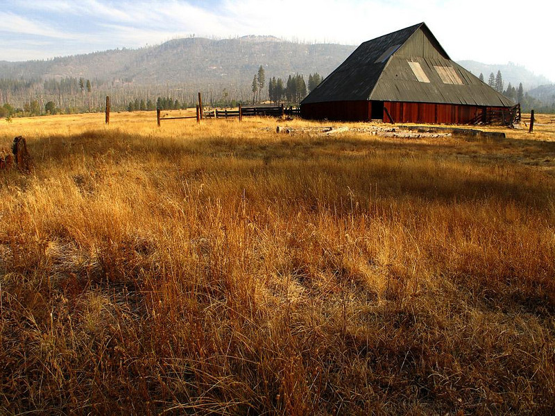 Barn at Foresta, Yosemite - Foresta is one of the few farms that still exists within the National Park