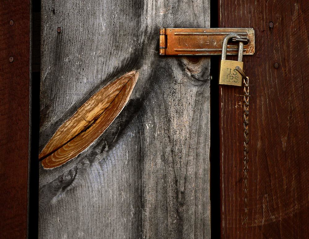 Locking the Barn Door, Foresta - The US National Park Service padlock on one of Foresta's barns offers a symbol for our times.