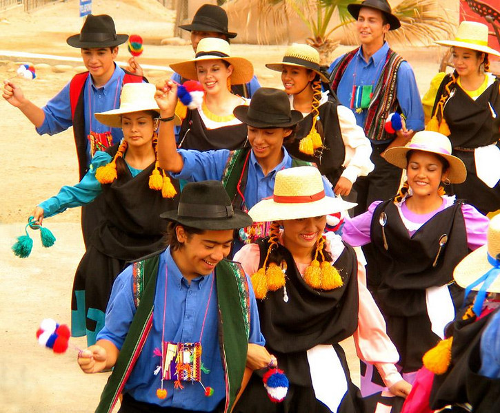 Dancers, Poconchile, Chile - The best young dancers from the surrounding region are chosen to dance for the visitors who come to Poconochile.