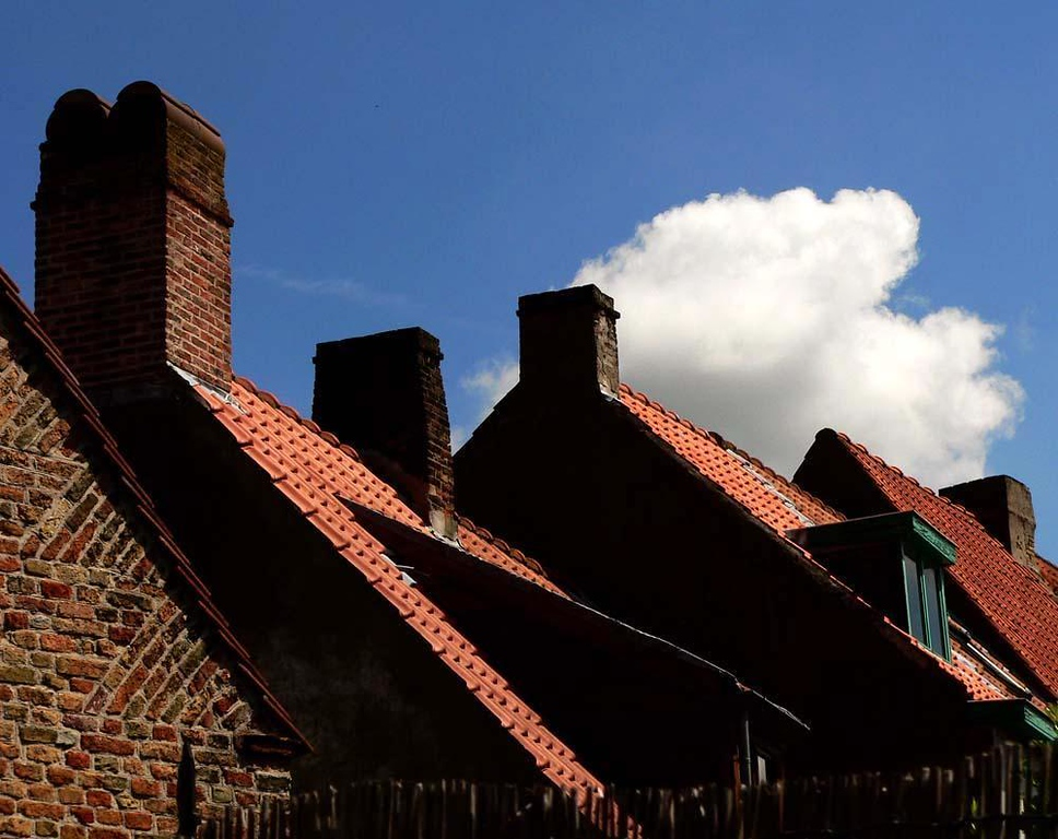 The rooftops of Bruges - The old roofs of Bruges repeat their form in a display of medieval geometry.