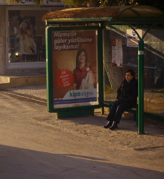 Bus stop, Kusadasi, Turkey