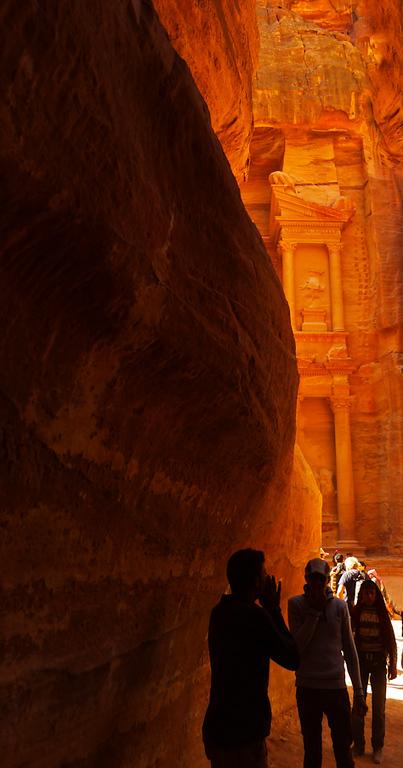 Entering Petra, Jordan