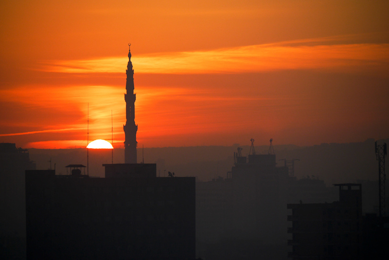 Dawn over Cairo Egypt