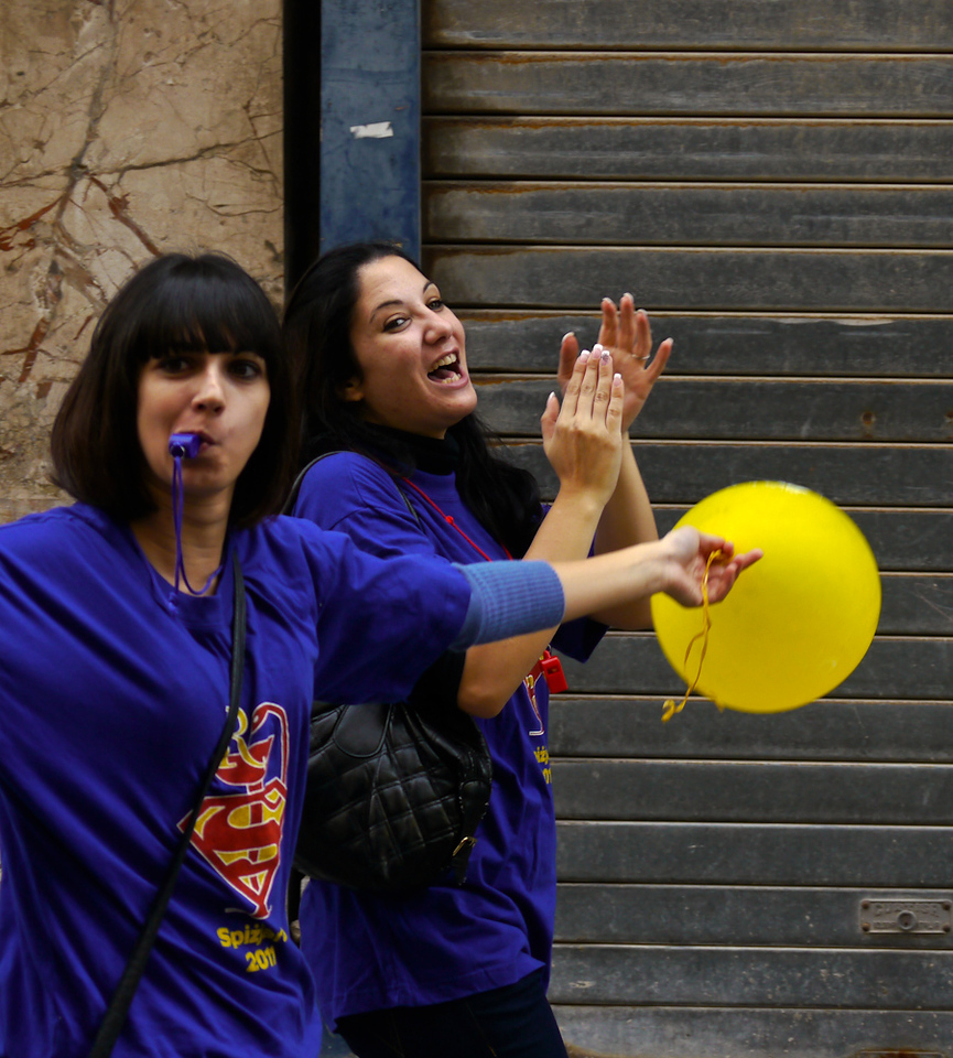 Student celebration, Valletta, Malta