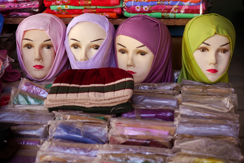 Head scarves, Aqaba, Jordan