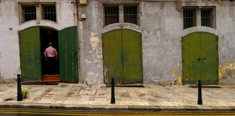 Open door, Valletta, Malta