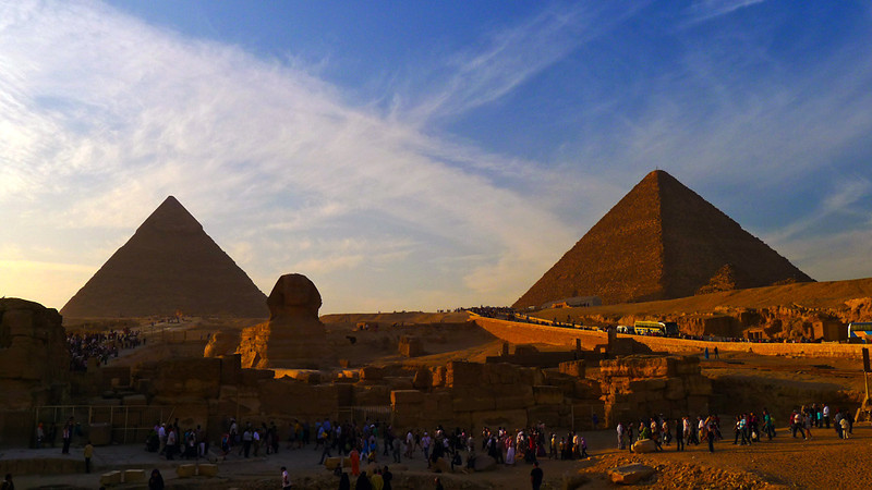 Pyramid tourism, Cairo, Egypt