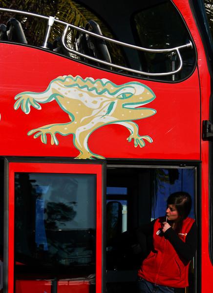 Tour bus, Barcelona, Spain
