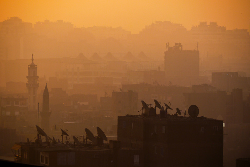 Dishes in the mist, Cairo, Egypt