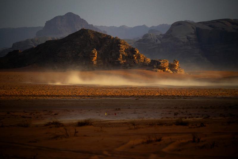 Dust devils, Wadi Rum, Jordan