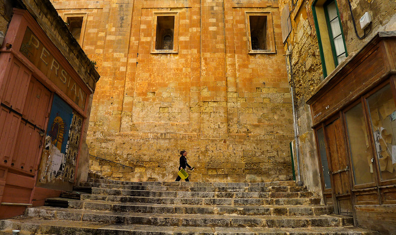 At the steps, Valletta, Malta