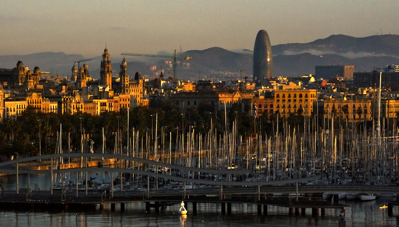 Dawn, Barcelona, Spain