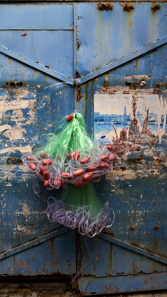 Fishing nets, Acre, Israel
