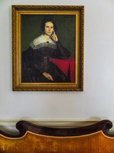 Sofa and portrait, Oakley House, St  Francisville, Lousiana