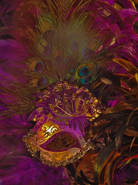 Peacock Mardi Gras Mask, New Orleans, Louisiana
