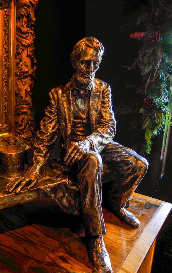 Silver Lincoln by Gutzon Borglum, Houmas House Plantation, Darrow, Louisiana