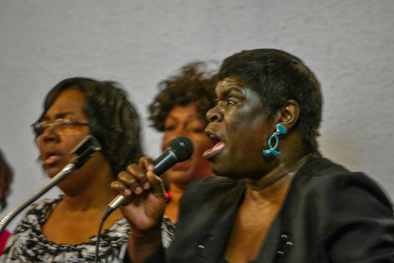 Gospel singer, First Baptist Church, West Helena, Arkansas