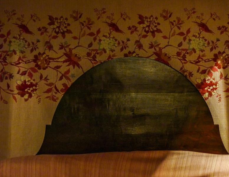 Ghostly headboard, Houmas House Planatation, Darrow, Louisiana
