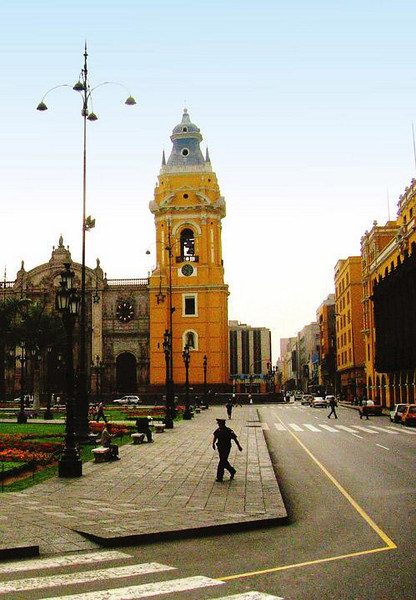 Cathedral, Lima, Peru - One of the most imposing cathedrals in South America looms over Lima's Plaza Mayor in the heart of the city's historical quarter. It contains the tomb of Spanish conquistador Francisco Pizzaro, who founded the city in 1535.
