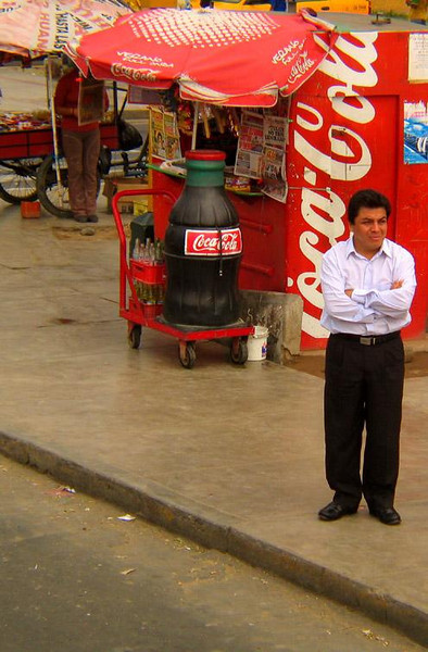 A Large Coke, Trujillo, Peru - Refreshment stands line the bustling streets of Peru's second largest city.
