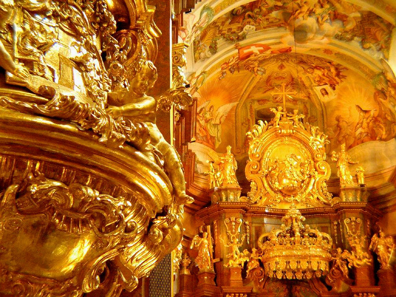 Best of the Baroque at Melk Abbey Church - The lavish gilded embellishment of Melk's Abbey Church creates a textbook Baroque church.