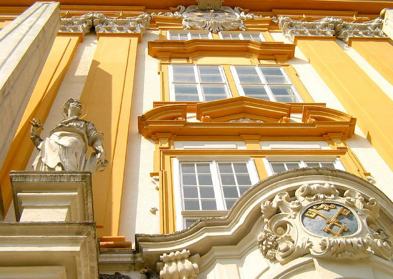 """Entering the Abbey of Melk - The Abbey of Melk, where Umberto Eco's novel """"The Name of the Rose"""" begins and ends, is one of the most extravagant complexes of Baroque buildings in the world. Once they pass through this entrance, it offers visitors one surprise after another."""