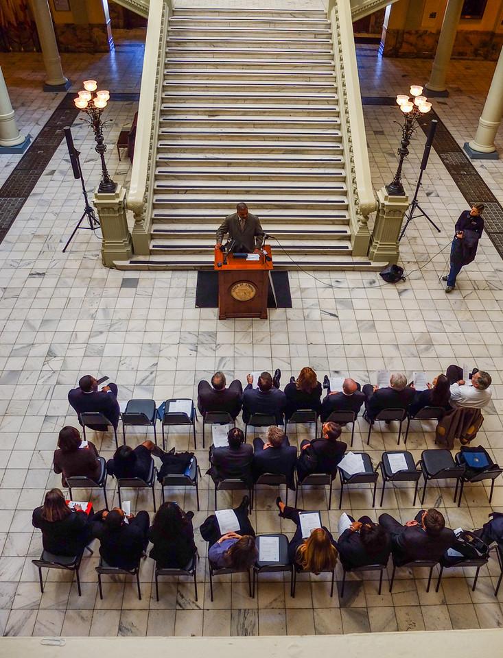73  Press Conference, Georgia State Capitol, Atlanta, Georgia