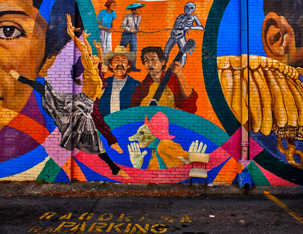 66  Theatrical Mural, Little Five Points, Atlanta, Georgia